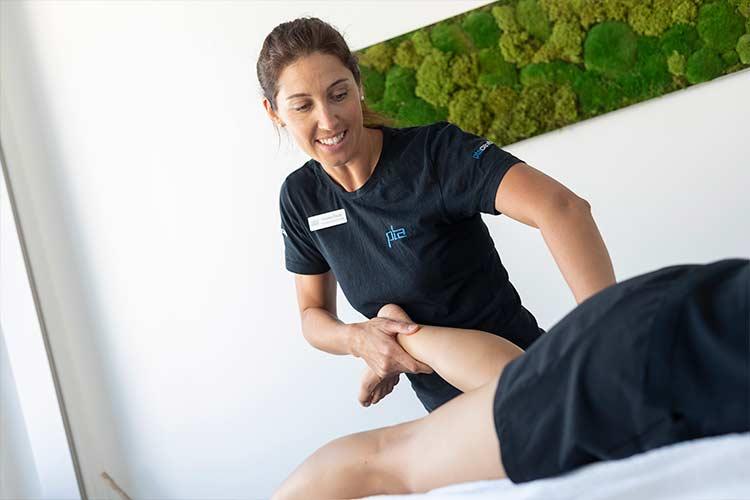 Manuelle Therapie im Bereich der Beinmuskulatur