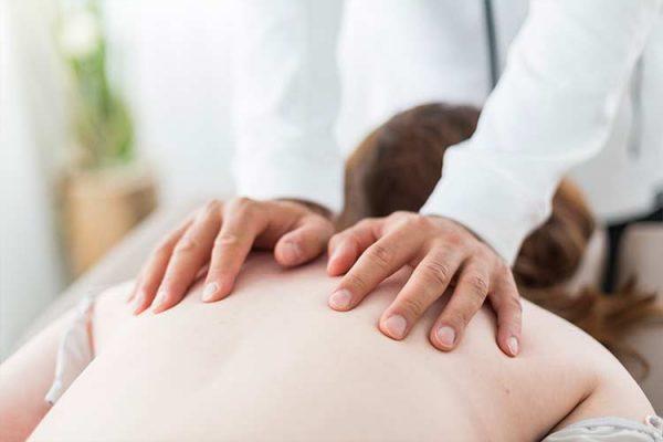 Wohltuende, medizinische Massage