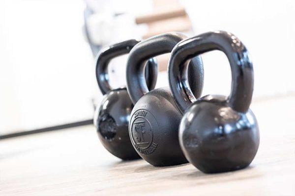 Leichte Gewichte für Trainingstherapie und Personal Training