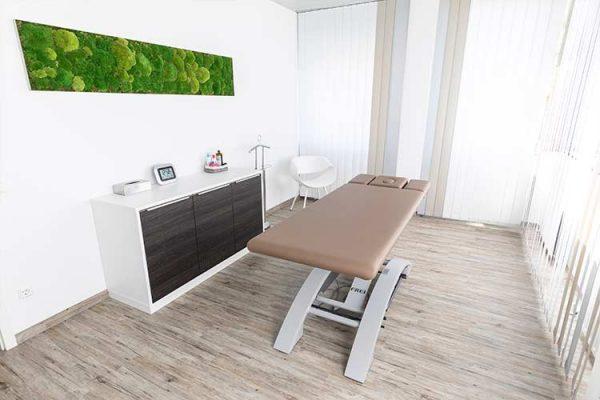 Klimatisierter Behandlungsraum im PTA Center Stuttgart